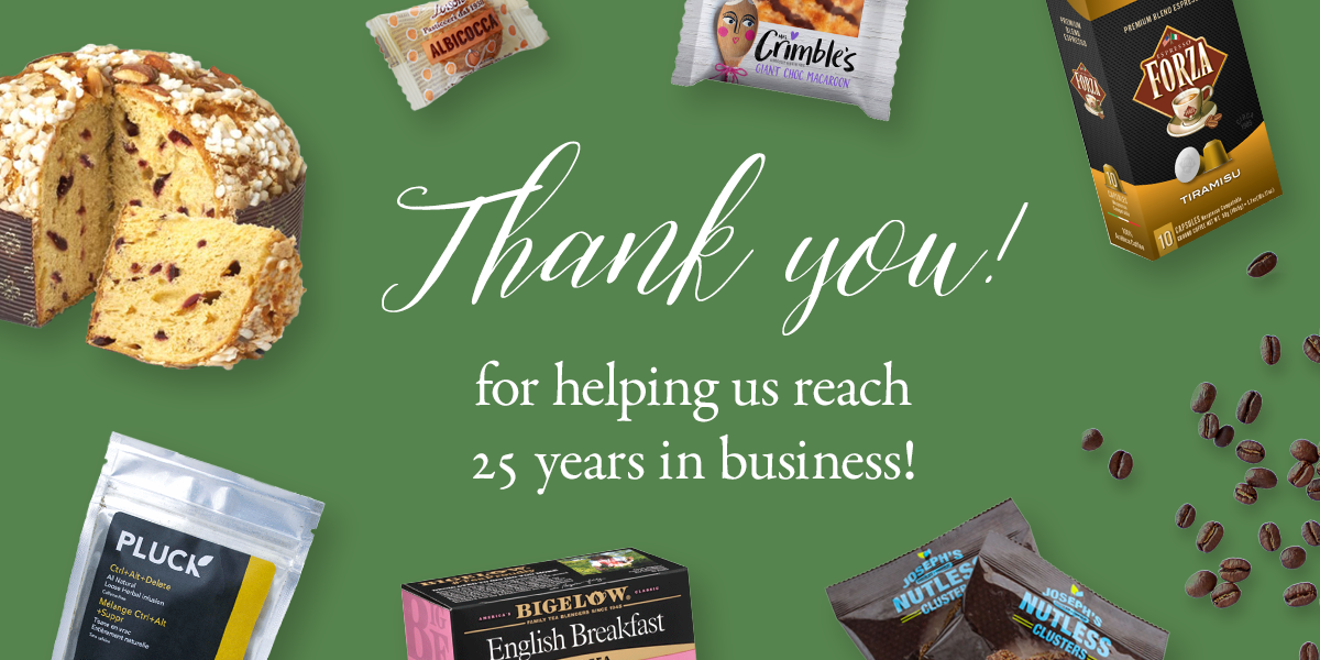 Thank you for helping us reach 25 years in business!